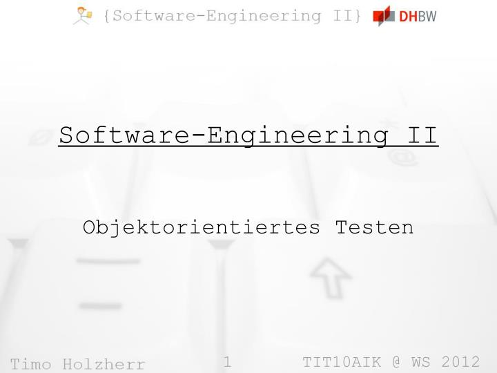 Software engineering ii