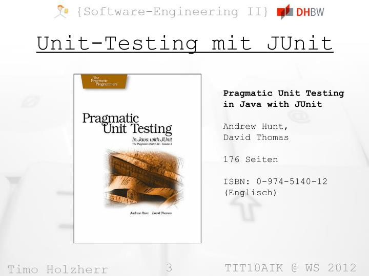 Unit testing mit junit