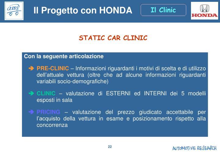 Il Progetto con HONDA