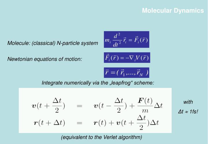 Molecule: (classical) N-particle system