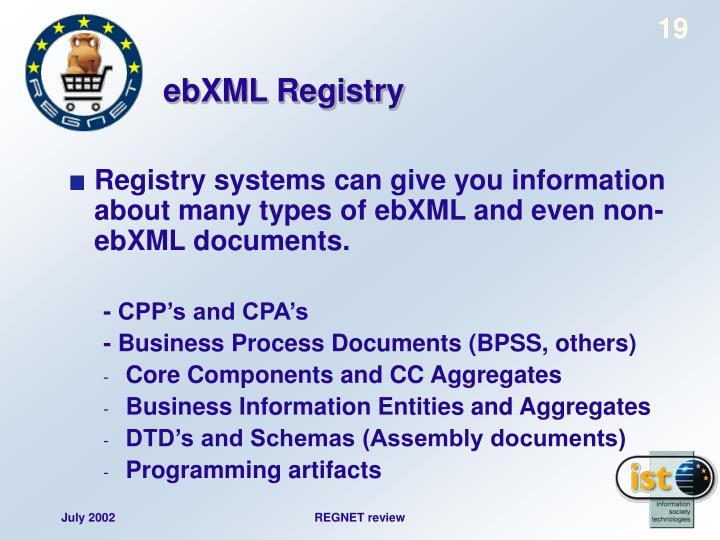 ebXML Registry
