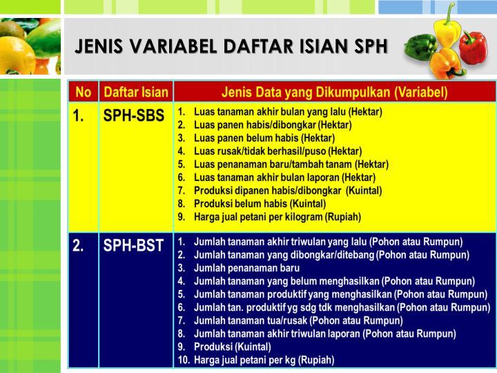 JENIS VARIABEL DAFTAR ISIAN