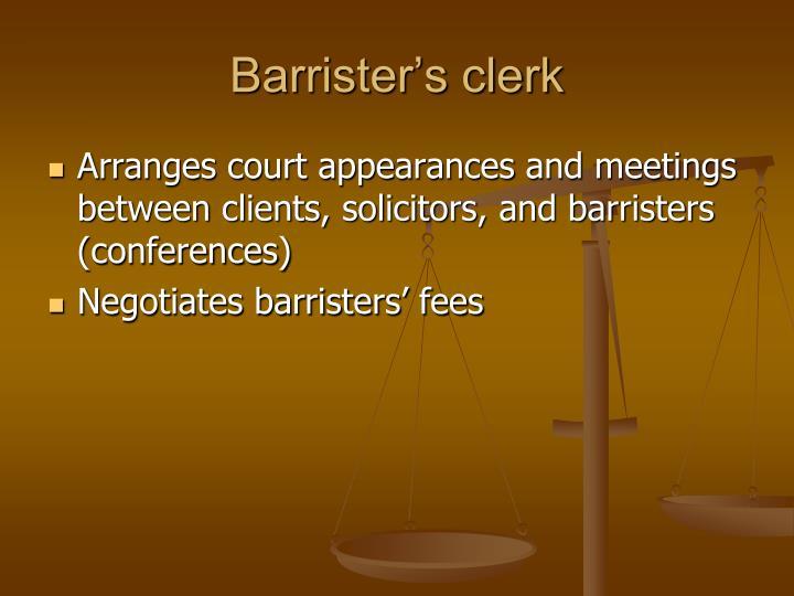 Barrister's clerk