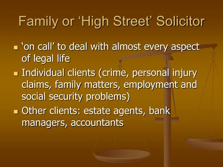 Family or 'High Street' Solicitor