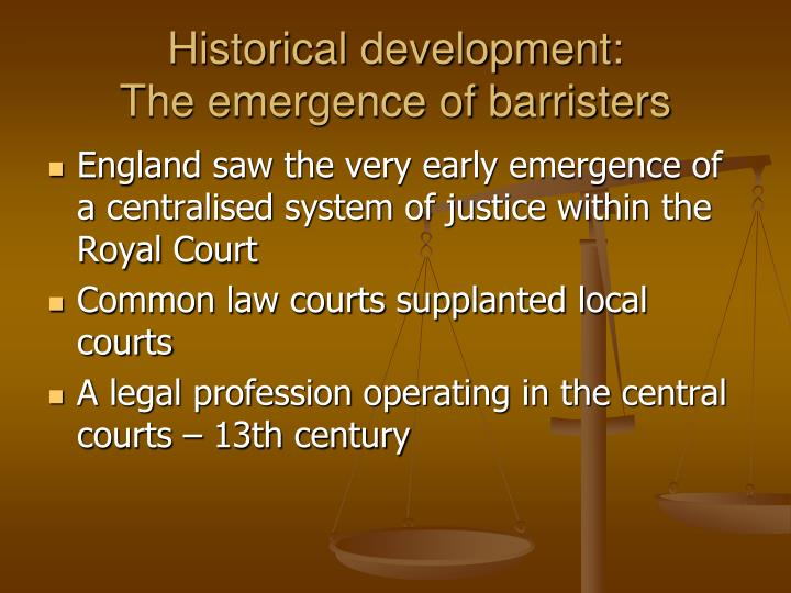 Historical development: