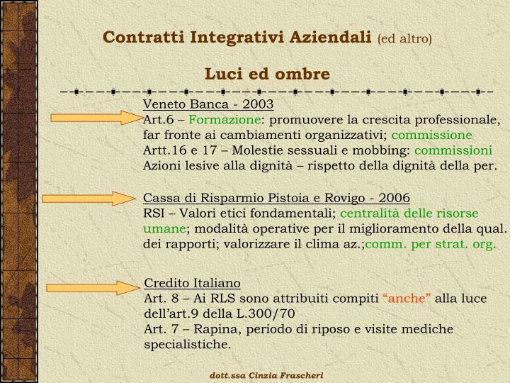 Contratti Integrativi Aziendali