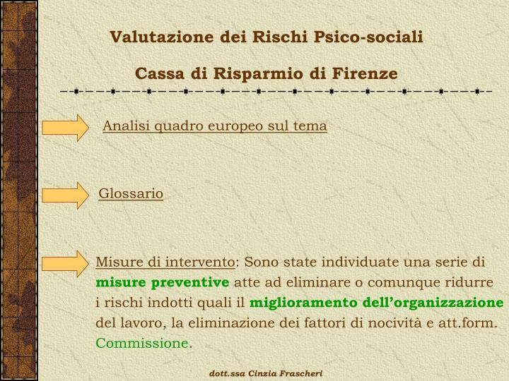 Valutazione dei Rischi Psico-sociali
