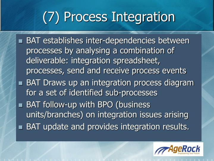 (7) Process Integration