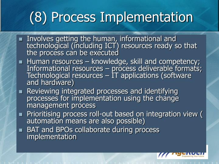 (8) Process Implementation