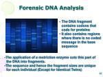 forensic dna analysis