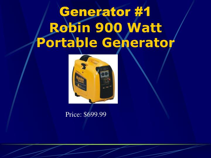 Generator #1