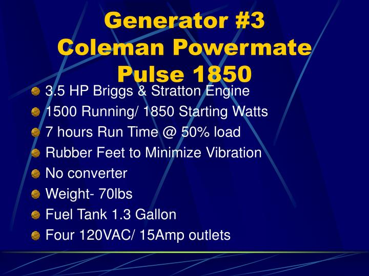 Generator #3