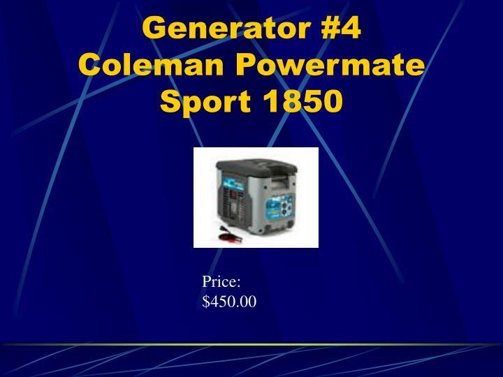 Generator #4