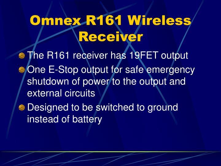 Omnex R161 Wireless Receiver