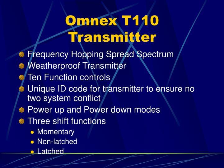 Omnex T110 Transmitter