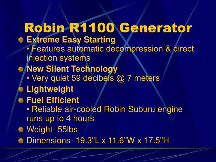 Robin R1100 Generator