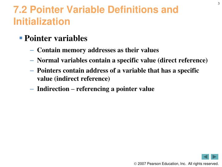 7 2 pointer variable definitions and initialization