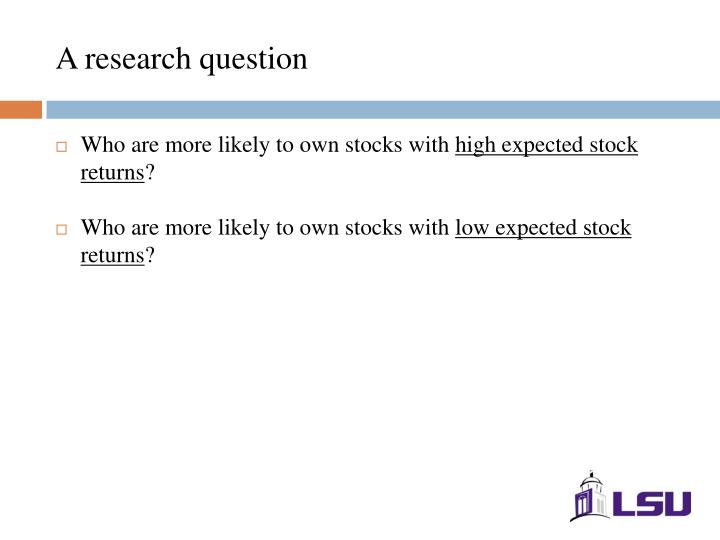 A research question