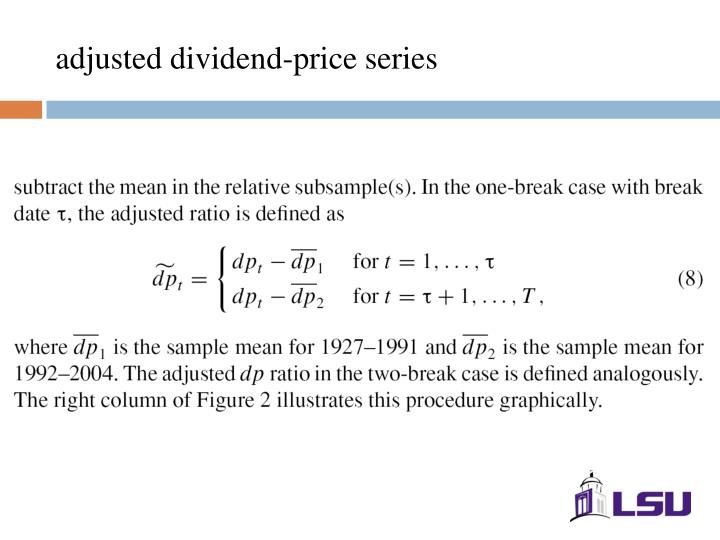 adjusted dividend-price series