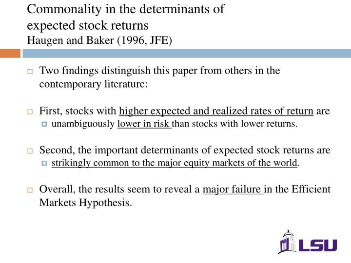 Commonality in the determinants of