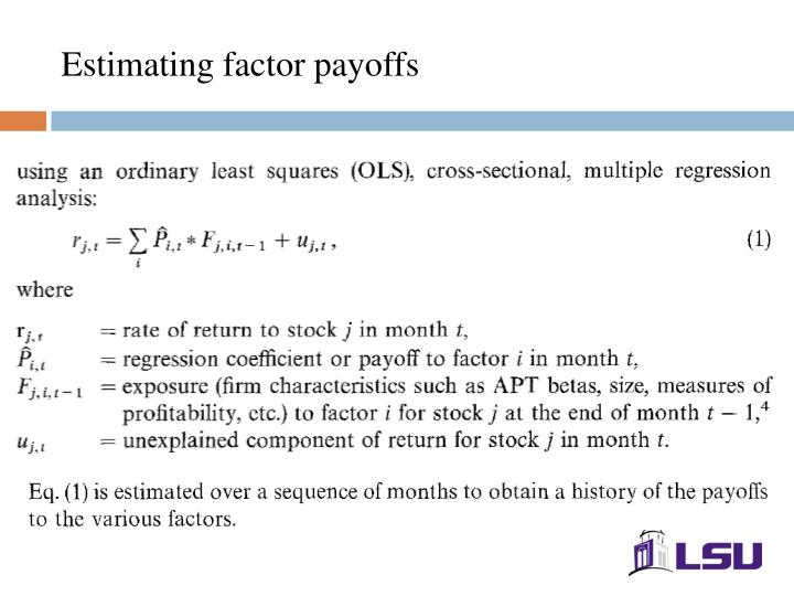 Estimating factor payoffs
