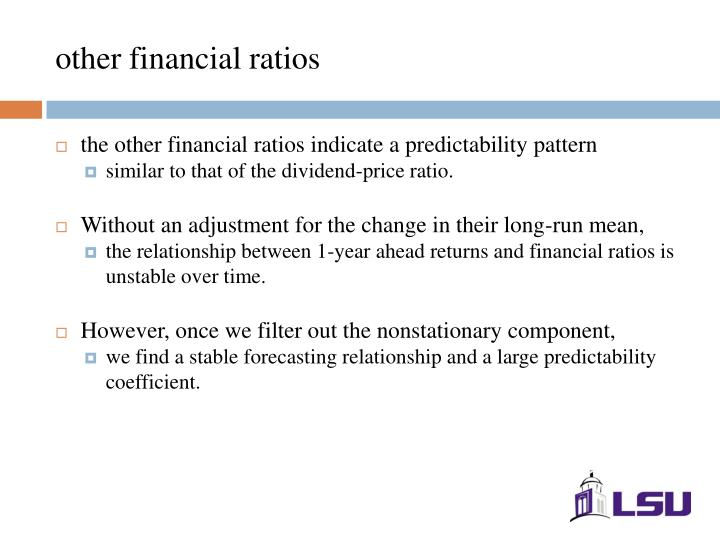 other financial ratios