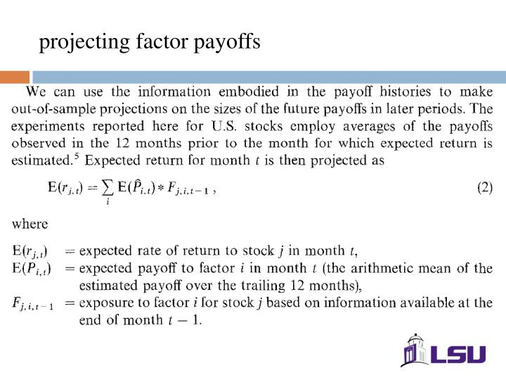 projecting factor payoffs