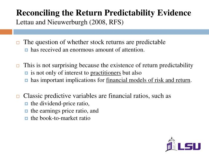 Reconciling the Return Predictability Evidence