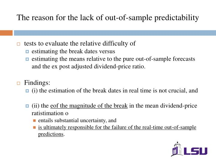 The reason for the lack of out-of-sample predictability