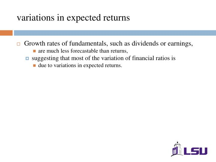 variations in expected returns