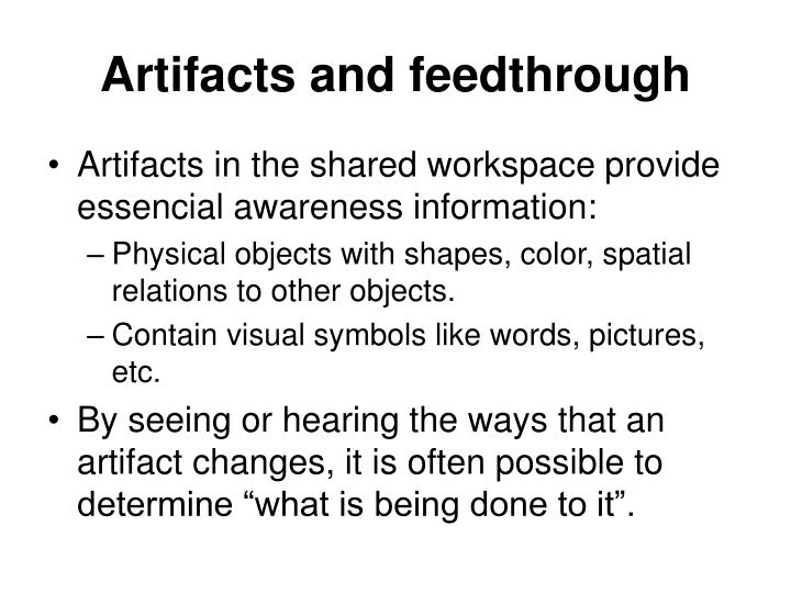 Artifacts and feedthrough