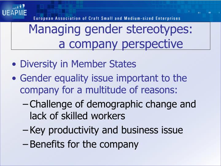 Managing gender stereotypes: