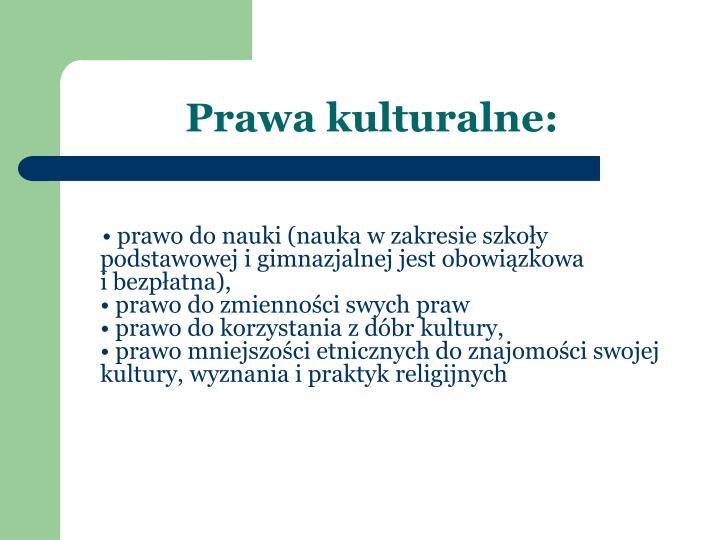 Prawa kulturalne: