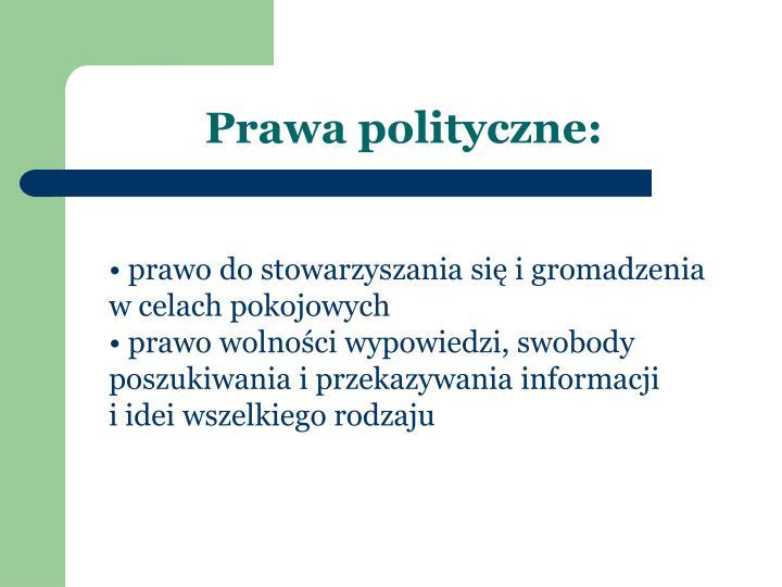 Prawa polityczne: