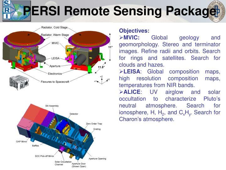 PERSI Remote Sensing Package