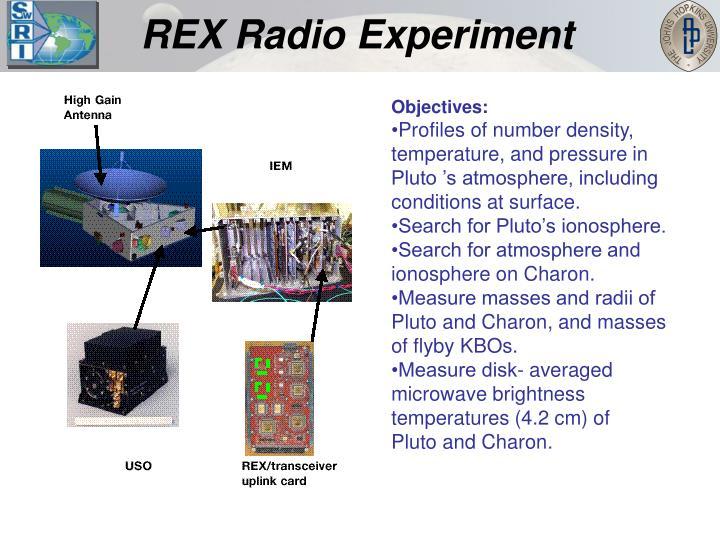 REX Radio Experiment