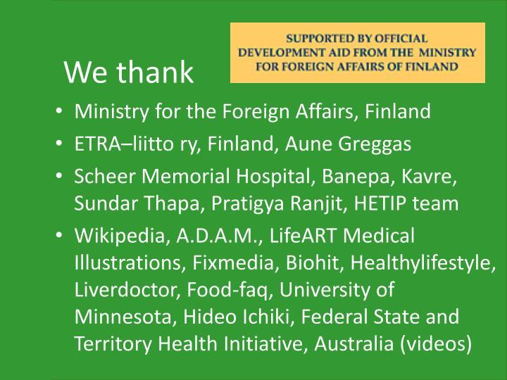 We thank