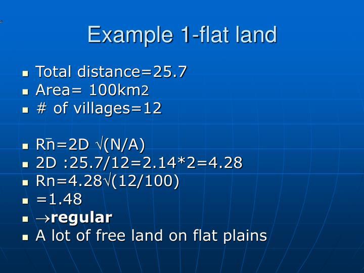 Example 1-flat land