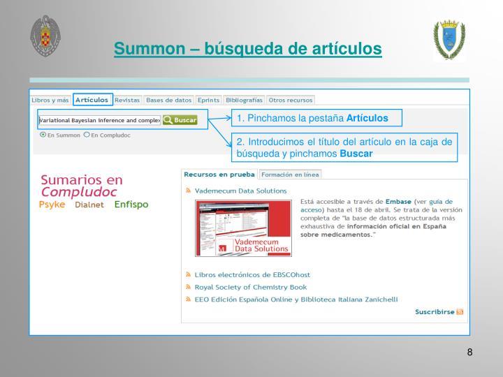 Summon – búsqueda de artículos