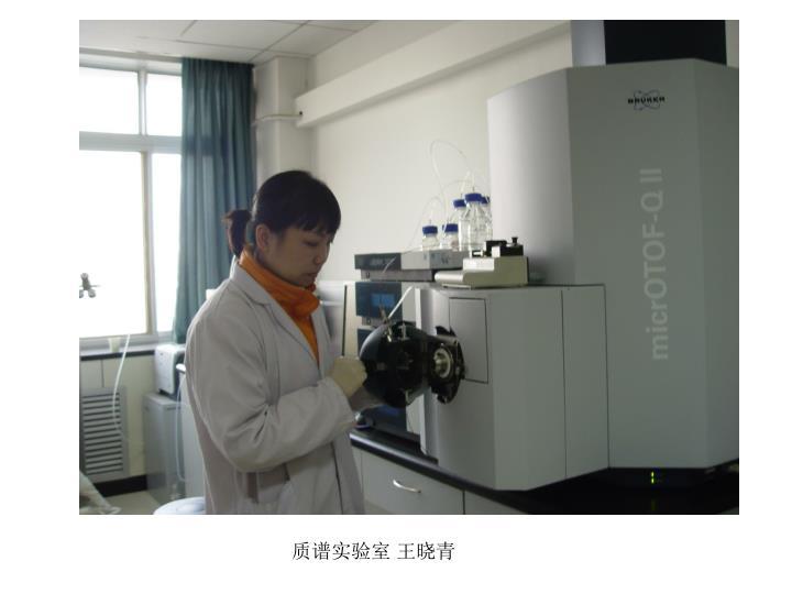 质谱实验室 王晓青