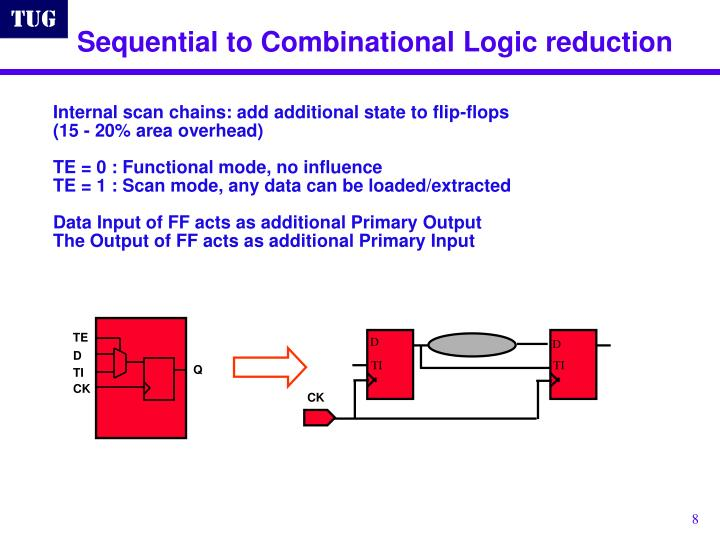 Sequential to Combinational Logic reduction