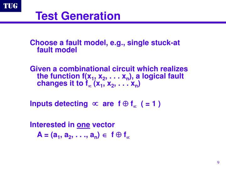 Test Generation