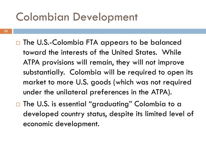 Colombian Development