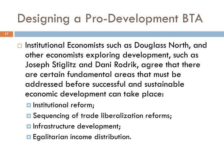 Designing a Pro-Development BTA