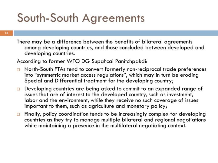 South-South Agreements