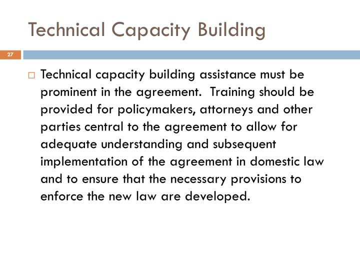 Technical Capacity Building