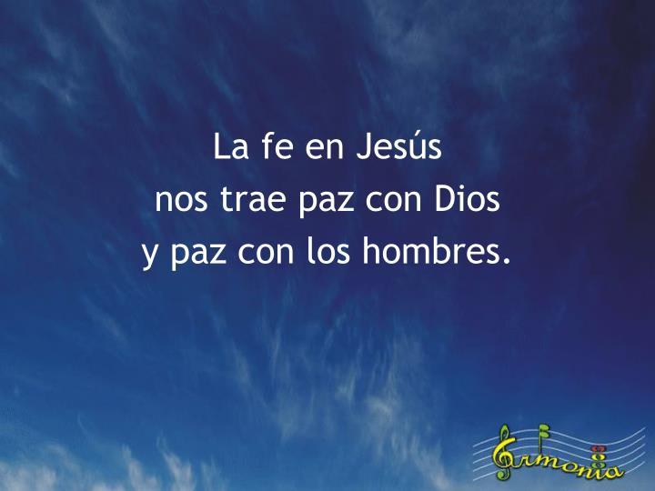 La fe en Jesús