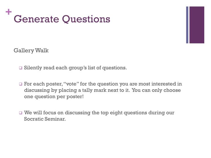 Generate Questions