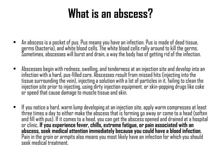 What is an abscess?