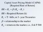 capital asset pricing model capm required rate of return